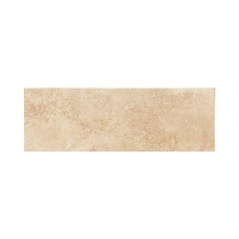 daltile salerno nubi bianche 3 in x 12 in glazed ceramic surface bullnose wall tile