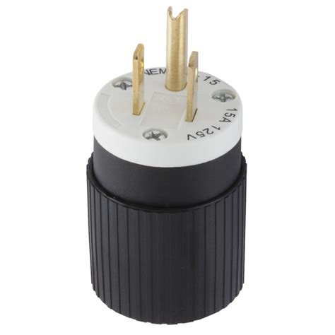 3 wire plugs shop hubbell 15 125 volt black white 3 wire at