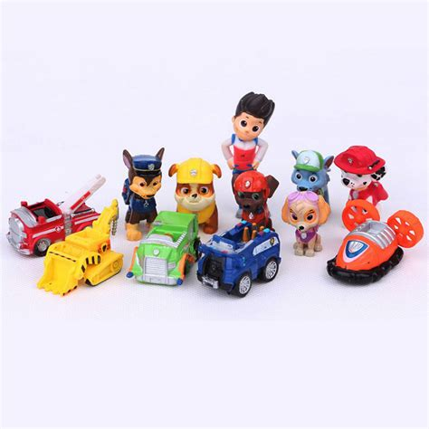 puppy toys for toddlers 12 pcs toys dogs figures patrulla canina puppy patrolling for