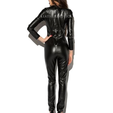 newly arrived sexy style leather jumpsuit leatherexotica