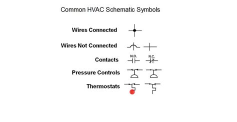 hvac schematic symbols