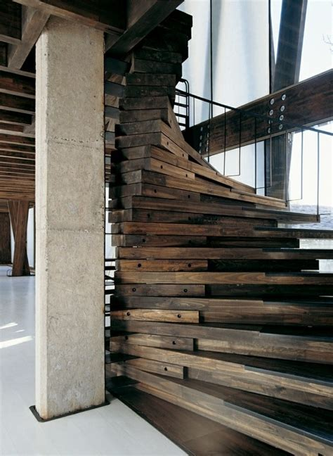 Wooden Spiral Stairs Design Gorgeous Spiral Wood Staircase Living Spaces Pinterest