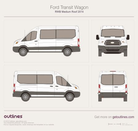 ford transit wagon rwb medium roof wagon drawings