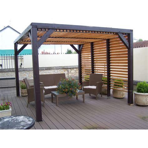 Charmant Abris De Jardin En Resine Pas Cher #1: pergola-en-bois-avec-vantelles-amovibles-sur-toiture-1-cote-48x310x232cm-ombra.jpg
