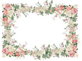 Flower Frame Template by Flower Frame Page Borders Scrapbook Frames And Silhou