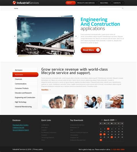 html5 site template free html5 website template industrial services