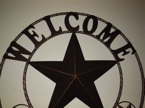 Western Star Home Decor by 26 Quot 32 Quot 40 Quot 46 Quot Welcome Barn Star Metal Wall Art Western