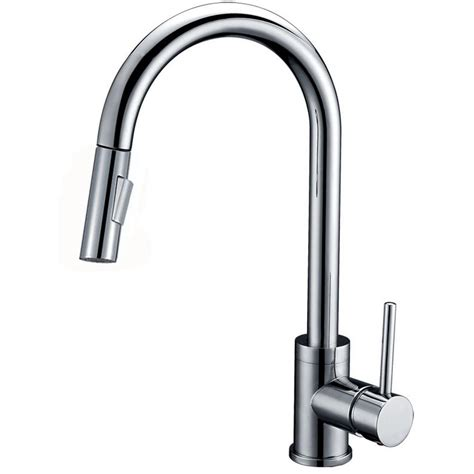 Brushed Nickel Kitchen Faucet With Sprayer Y Decor Luxurious Single Handle Pull Out Sprayer Kitchen Faucet In Brushed Nickel Finish Ypg314