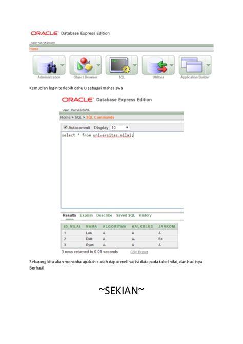 oracle net tutorial tutorial privileges objek di oracle