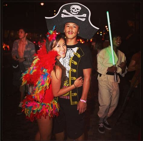 pirate   parrot homemade halloween couples costumes