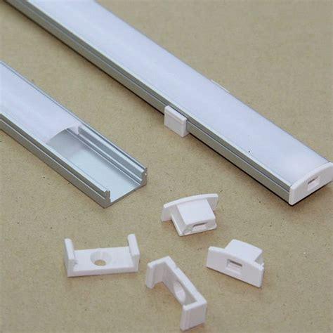barre porta led kit profilo alluminio per barra o led 2mt cover