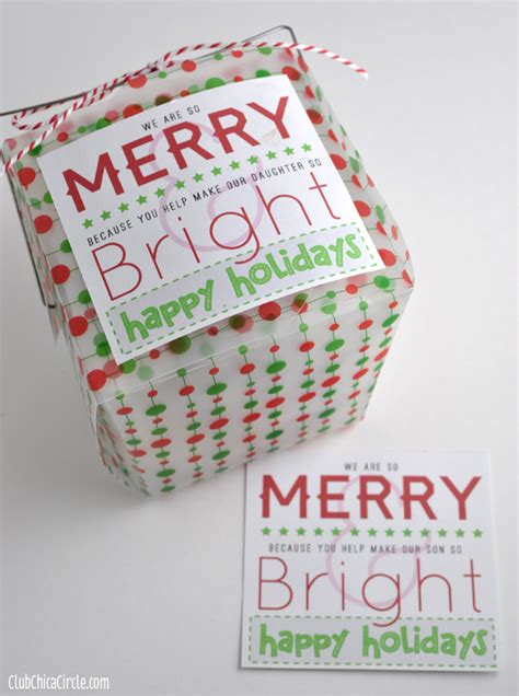 printable christmas gift tags for teachers merry bright holiday gift tag printables for friends