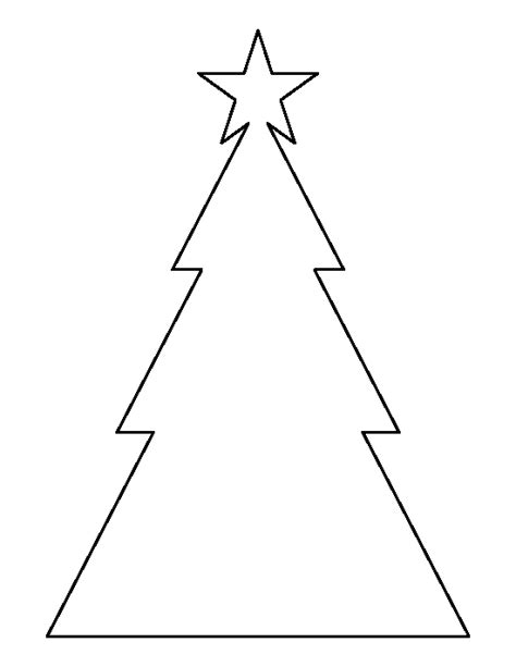 triangle template for christmas tree printable triangle tree template