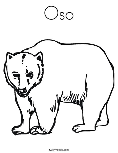 oso coloring page twisty noodle