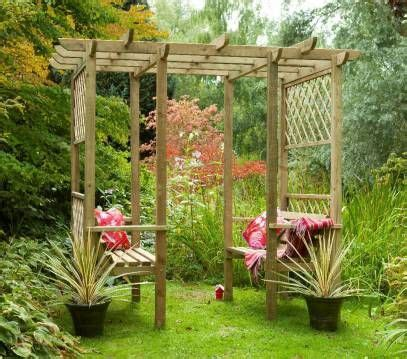 Garden Arbor Kits For Sale by Forest Verona Walk Through Garden Seated Arbour Pergola