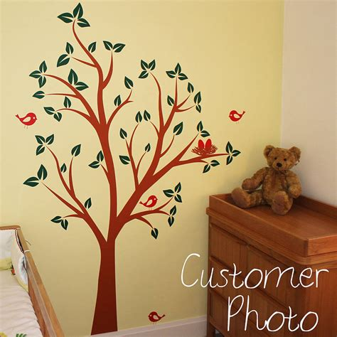 bird and tree wall stickers birds nests in tree wall sticker by parkins interiors