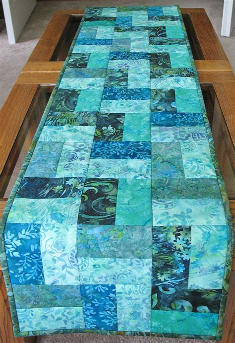 Table Runner Batik batik table runner by picketfencefabric on etsy quilting
