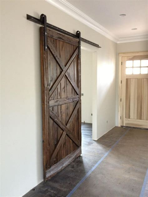 barn wood door x pattern wood sliding barn door porter