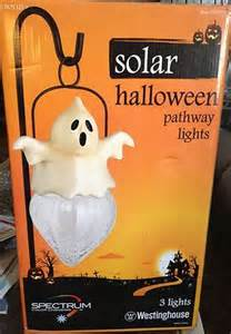 Ebay Solar Lights - 3 piece westinghouse halloween led solar pathway light set spectrum c