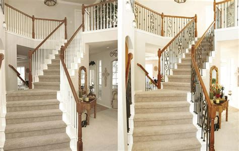 Banister Spindle Replacement by Stair Design Before And After Exles Stair Parts