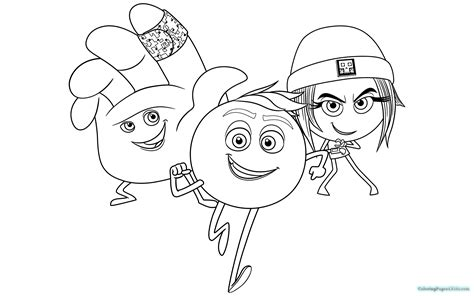 The Emoji Movie Coloring Pages   Coloring Pages For Kids