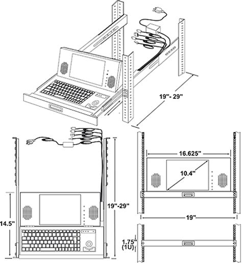 Cad Drawer by Rack Mount Ps 2 Keyboard Drawer Cad Drawing Ultra Compact