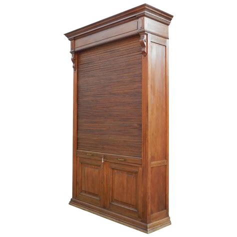 Unfinished Louvered Cabinet Doors Louvered Door Cabinet In Mahogany And Solid Oak Circa 1900 For Sale At 1stdibs