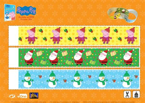 printable paper chains christmas peppa pig christmas paper chain craft mama likes this