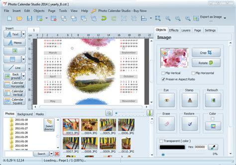 Calendar With Photos Make Calendar With Photo Calendar Studio Software Photo