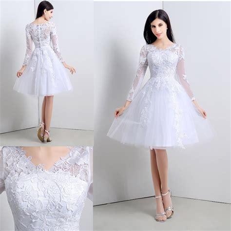 fotos vestidos de novia por el civil vestido de novia boda civil corto tul encaje elegante