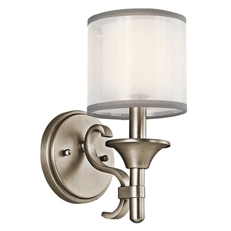 kichler bathroom vanity lighting shop kichler lighting 1 light lacey antique pewter