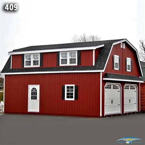 gambrel roof garages 2 car 2 story garage two story garage horizon structures