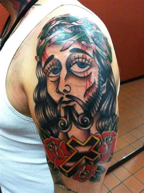 blue jesus tattoo meaning jesus tattoo designs the cool jesus tattoo designs and