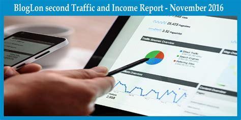 bloglon second traffic and income report november 2016