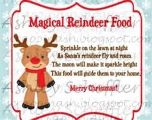 Reindeer food reindeer christmas reindeer food tag printable
