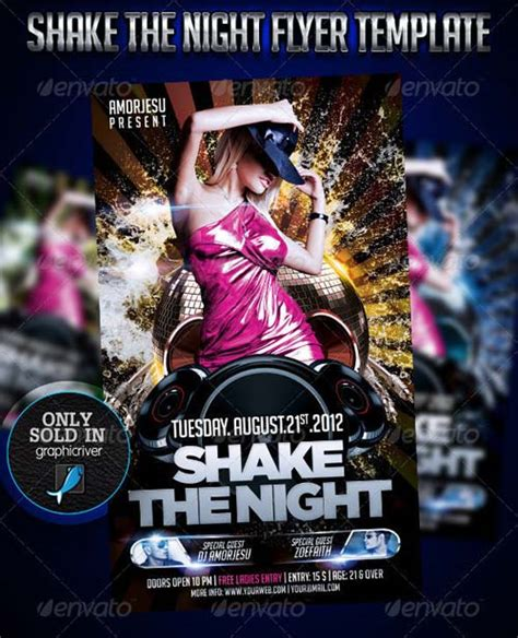 graphicriver flyer download graphicriver shake the night flyer template
