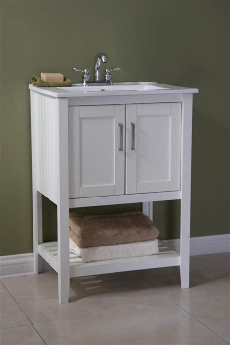legion 24 inch traditional bathroom vanity white finish