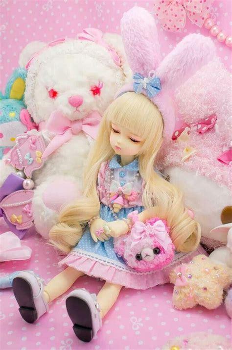 jointed doll neko bjd jointed doll kawaii pastel dolls