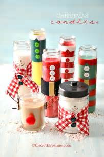 Christmas gifts candles tutorial at the36thavenue com pin it now