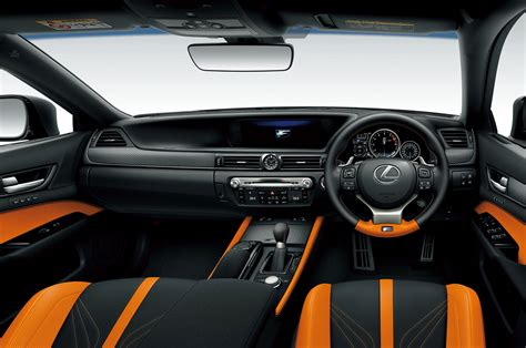 lexus gsf seats or not orange and black seats in the lexus gs f