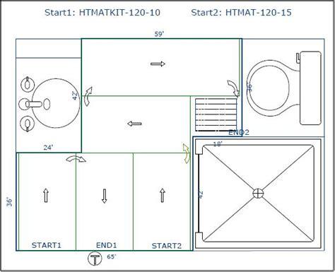 Bathroom Laundry Room Floor Plans case study heating a 32 tile floor in san diego ca