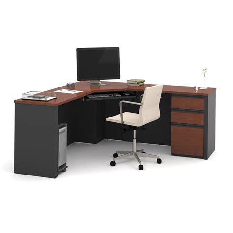 Bestar Corner Desk Bestar Prestige Plus Corner Desk In Bordeaux And Graphite 99899 39