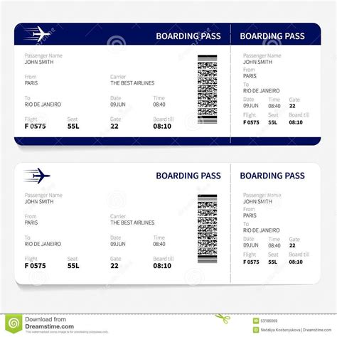 boarding card templates airline ticket template free sle customer service