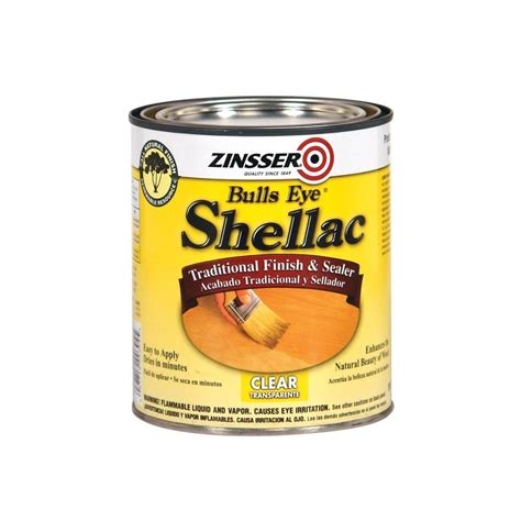 shop zinsser shellac clear base 32 fl oz shellac at lowes