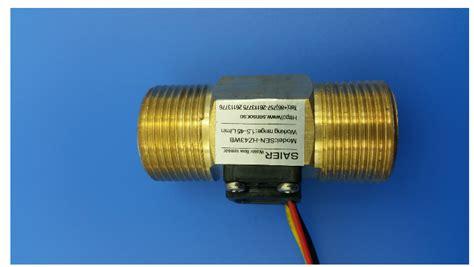 Water Flow Sensor 1 2 Brass Copper Waterflow shower automatic washing machine copper brass water flow meter switch sensor flowmeter impeller
