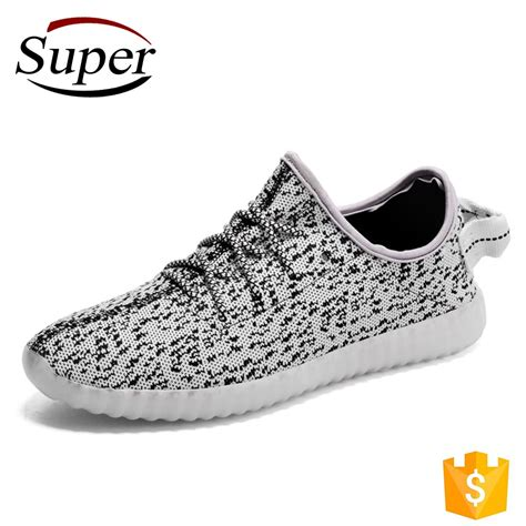 26 30 Yeezy Stripe Premium Led No Fashion best quality light up shoes yeezy light shoes