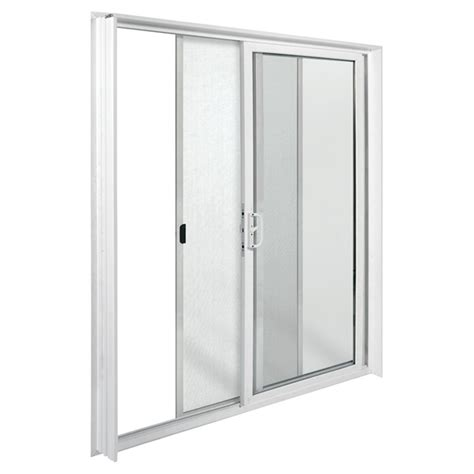 Rona Patio Doors Vinyl Sliding Patio Door 72 Quot X 80 Quot White Left Opening Rona