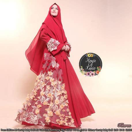 Aisyah Azzahra Syari Mint Baju Muslim klaraa s2056 maroon baju muslim gamis modern