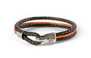 The Leukemia and Lymphoma Society for Leukemia   Braided Leather Bracelet   Orange