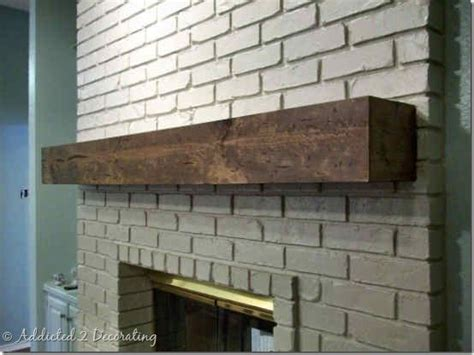diy hewn wood mantel 5 mantle